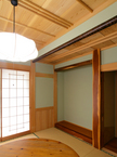 檜をふんだんに使った和室(施主さま談:大手材木メーカーさんに写真撮影の依頼を受けました!!)